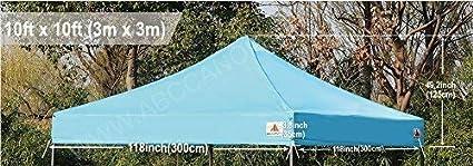ABCCANOPY Tonnelle de terrasse 3 x 3 cm enti/èrement imperm/éable et r/ésistante bleu ciel
