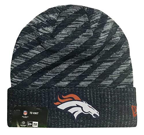 New Era 2018 NFL Denver Broncos Tech Touchdown Stocking Knit Hat Winter Beanie