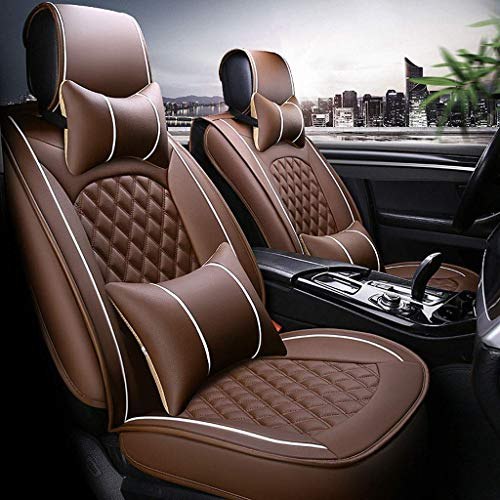 Leather seat cover, side airbag for 5 seats: