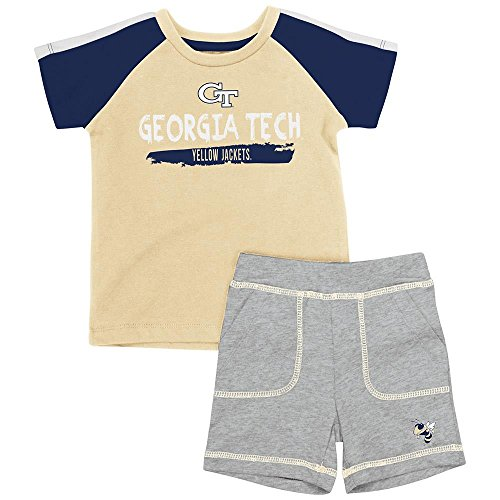 Infant Georgia Tech Yellow Jackets Tee Shirt and Shorts Set - 12 to 18 Months