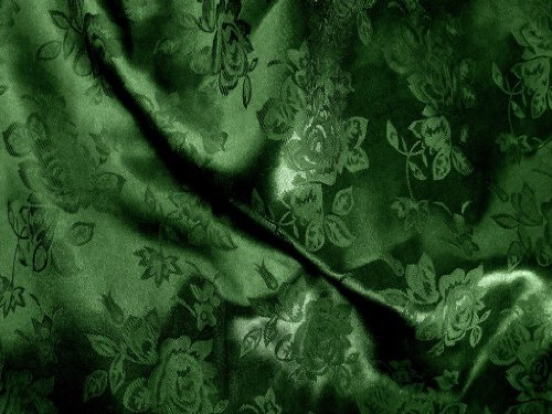 1 X Brocade Jacquard Satin Dark Hunter 60 Inch Fabric By the Yard from The Fabric Exchange ®