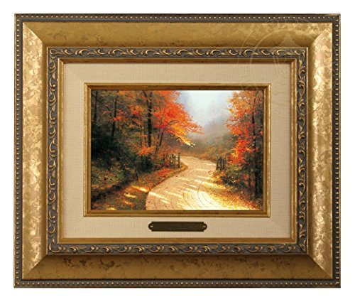 Thomas Kinkade Brushwork Autumn Lane (Gold Frame) (Thomas Autumn Kinkade)