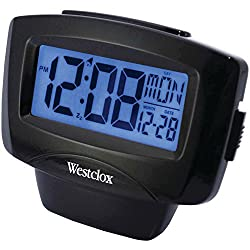 Westclox Easy-to-Read LCD Alarm Clock with Day/Date, Large