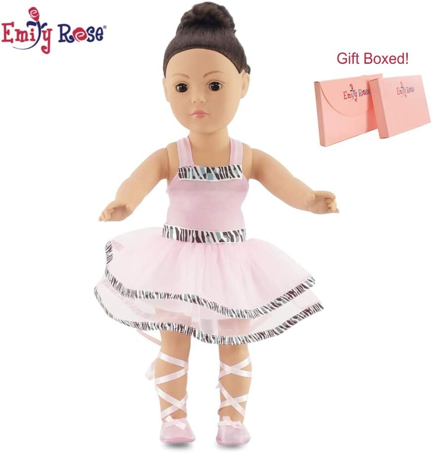 Doll Shoes Black Ballet Style Fit 18 inch American Girl