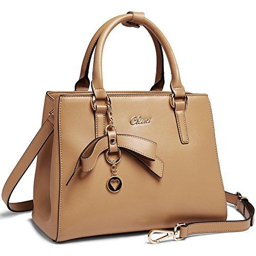 Crossbody apricot Cluci Leather for Purse Handbags Shoulder 3 Ladies Tote Women Fashion Genuine Bag Designer 6q16zxrw