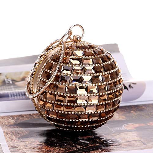 Mariée De Vintage Soirée Banquet Bag À Mariage Fête Gold Mallty Femmes Motif color Drill Pour Gold Bal Sac S78wnqxU