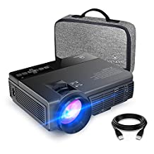 VANKYO LEISURE 3 (Upgraded Version) 2200 lumens LED Portable Projector with Carrying Bag, Video Projector with 170'' Display and 1080P Support, Compatible with Fire TV Stick, PS4, HDMI, VGA, TF, AV and USB with HDMI Cable (2-Black)