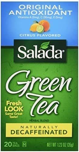Salada Decaffeinated Green Tea with Original Antioxidants Citrus -- 20 Tea Bags
