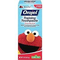Crema dental Orajel Elmo, libre de fluoruro, 1.5 oz