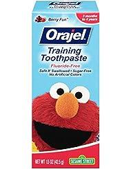 Orajel Elmo Fluoride-Free Training Toothpaste, 1.5 Oz