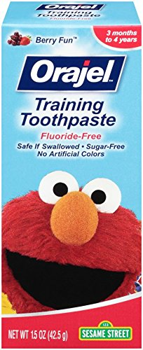 Orajel Elmo Fluoride-Free Training Toothpaste, 1.5 Oz (Best Toothpaste For Toddlers)
