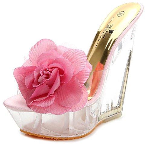 Rose Fleur Aisun Enfiler Femme À Mules Chaussures Chic Plage Décor TzEYzx