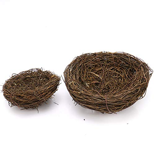 - JETEHO 2Pcs Artificial Bird Nest Woven Vine Bird Finch House Bedding Decoration Props Craft Home Ornaments Wedding Decoration