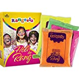 Pidilite Rangeela Non-Toxic Holi Rang Box with 4 packs (75gm each, Colors May Vary)