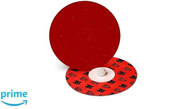 3M Cubitron II Roloc Durable Edge Disc 984F TR Pack of 25 Precision Shaped Ceramic Grain YF-Weight Cloth 60 Grit 4 Diameter
