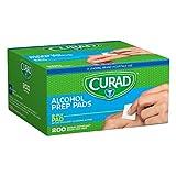 Medline CUR45581RB Curad Alcohol Prep Pads 200 Ea (1 Box)