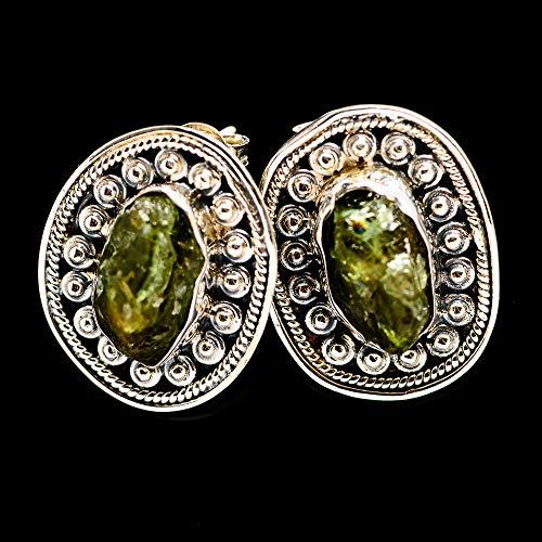 Ana Silver Co Rough Green Tourmaline Earrings 1
