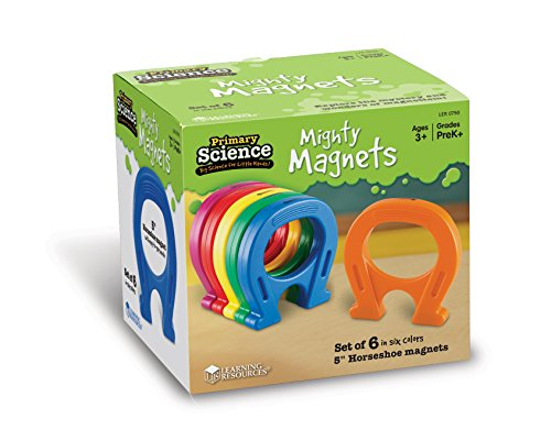 (Learning Resources Mighty Magnets, Set of 6)