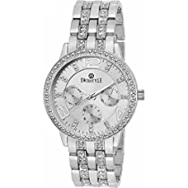Swisstyle Analogue Silver Dial Women's Watch-SS-LR250-SLV