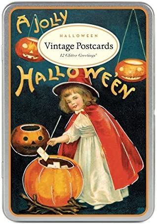 Amazon.com: Cavallini & Co. Halloween Glitter Greetings Postcards