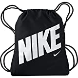 NIKE Kids' Graphic Gym Sack, Black/Black/White, One Size