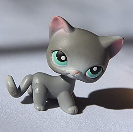 Amazon Com Shorthair Cat 126 Grey Blue Eyes Littlest Pet Shop