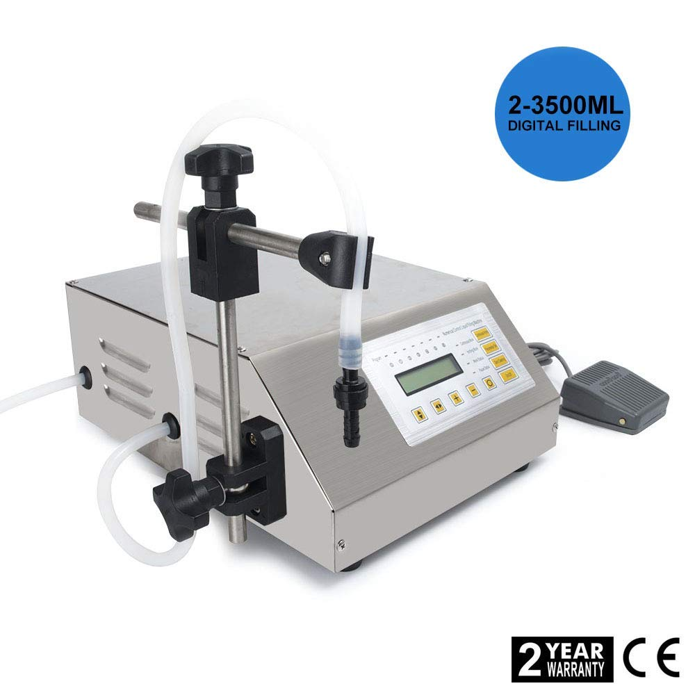 Hengwei 110V Liquid Filling Machine Bottling Bottle Filler Digital Control Pump 5-3500ML