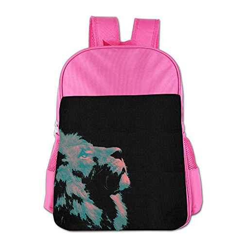 Lion Face Fashion Printed Bright School Bag Childrens - Hawaii Kings Shops Island Big