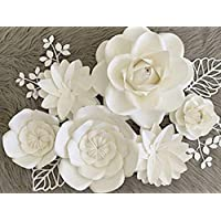 BUBBAPAINT | 3D Paper Flower Decorations for Wall |Backdrop for Décor | Giant Size Pre-Assembled | Flower Party Decor Wendding, Christenings, fifteenth Birthday, Rooms, Anniversary, Easter