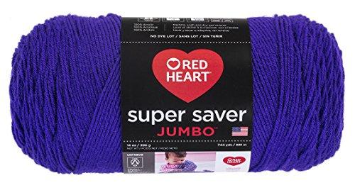 Red Heart  Super Saver Jumbo Yarn, (Amethyst Fabric)