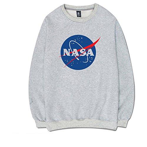 Coli&Tori Fashion NASA Logo Print Hoodie Sweatshirt with Kangaroo Pocket