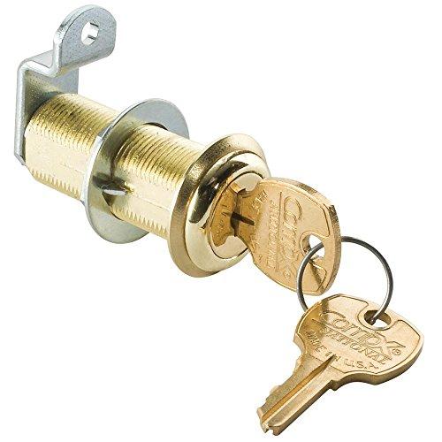 1-3/4 Long Cylinder Lock - Brass, keyed alike