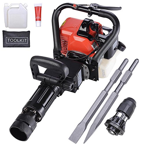 Yescom 2in1 32.7cc Gasoline Demolition Jack Hammer Pile Piling Driver Chisel 2 Stroke w/EPA Certification For Sale