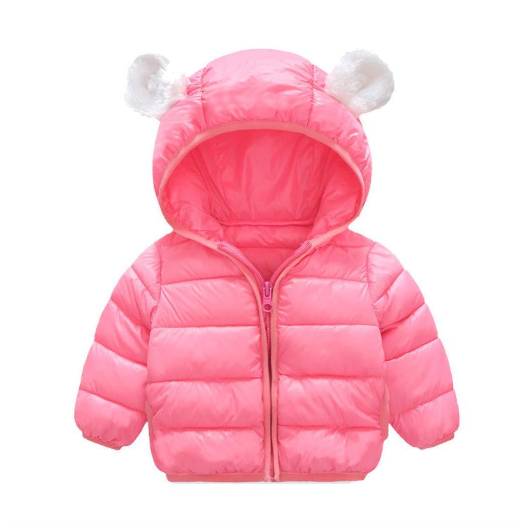 HUHU833 Baby Kapuzen Mantel Kinder Daunenmantel Baby M/ädchen Jungen Winter Kapuzenmantel Mantel Jacke Dicke Warme Oberbekleidung Kleidung