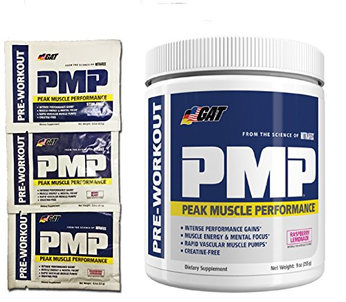 GAT PMP(Peak Muscle Performance) Pre-Workout 30/S With Samples (Raspberry Lemonade)