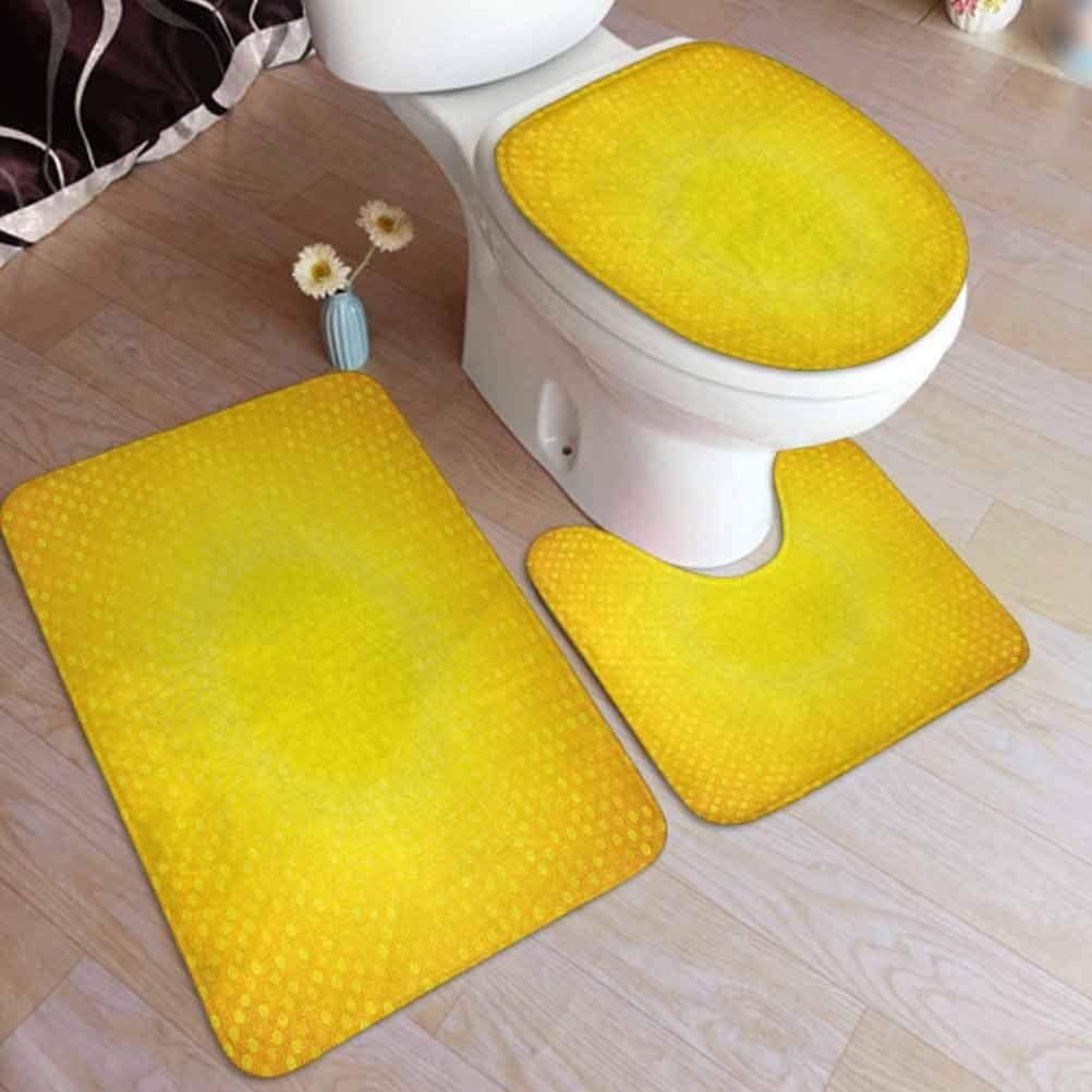 Amazon.com: Ahuimin Yellow 5 Pieces Bathroom Rug Set, Illustration