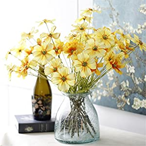 Crt Gucy 6 Pack Artificial Calliopsis Flowers Fake Silk Flower Table Kitchen Home Garden Party Wedding Decoration 80