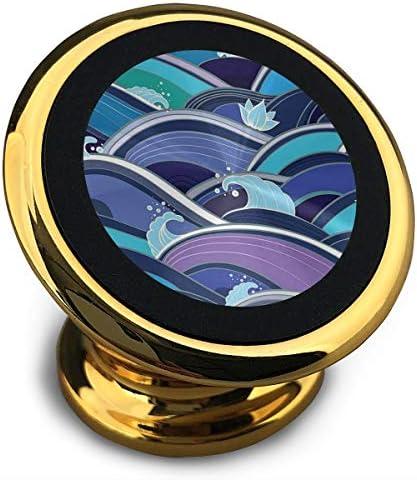 スプレー波 携帯電話ホルダー おしゃれ 車載ホルダー 人気 磁気ホルダー 大きな吸引力 サポートフレーム 落下防止 360度回転