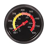 CoZroom BBQ Temperature Gauge Grill Pit Thermometer Fahrenheit for Barbecue Meat Cooking Pork Lamb Beef