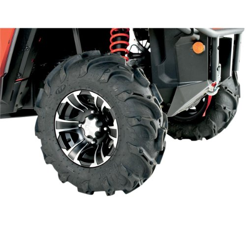 ITP Mayhem, SS212, Tire/Wheel Kit - 26x9x12 - Matte Black/Machined - Ss212 Kit Tire Wheel