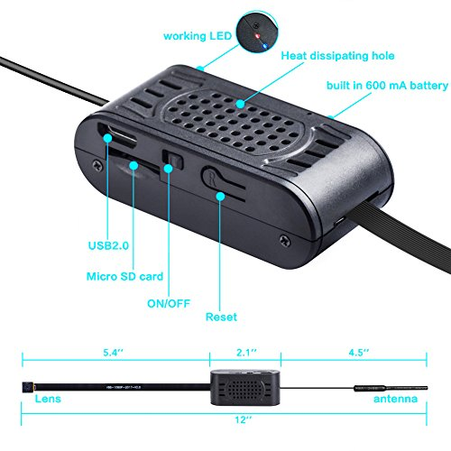 1080P WiFi Hidden Camera,SILLEYE Portable Spy Mini ...