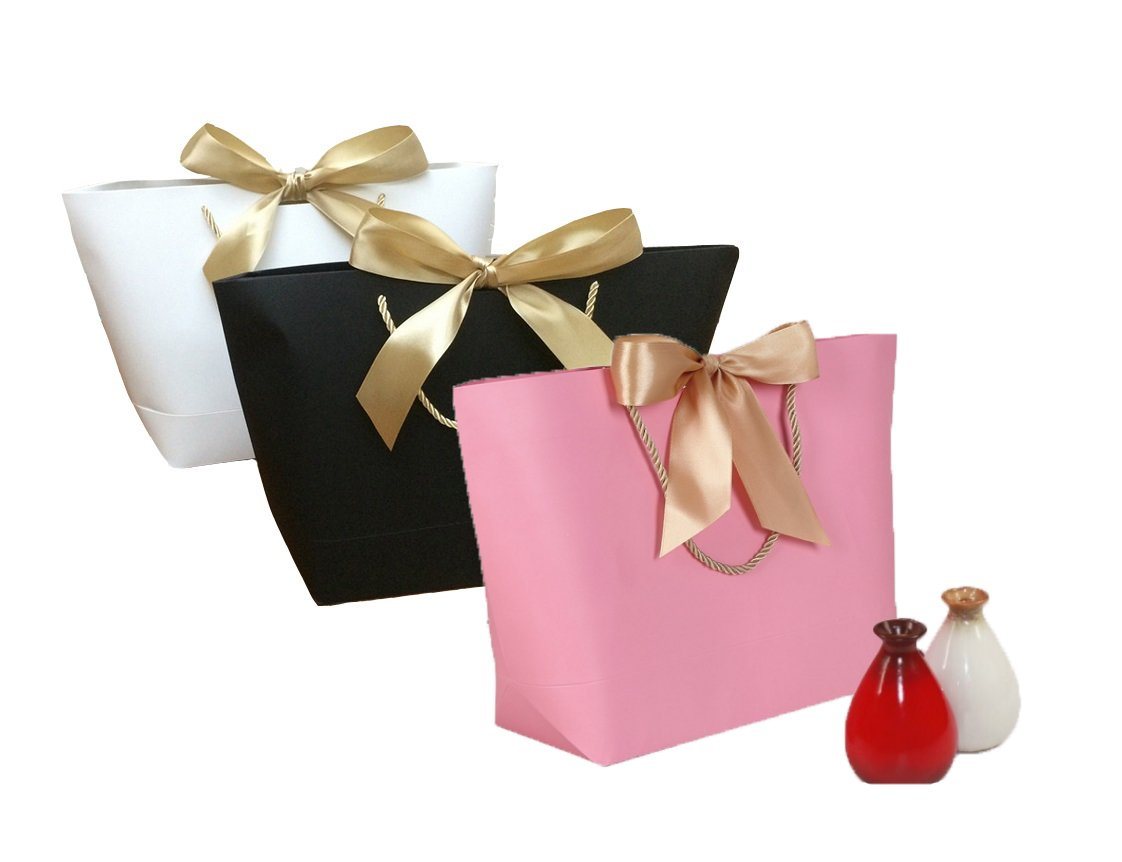 Amazon.com: 12 Gift Boutique Bow Gift Bags -Exquisite Designs ...