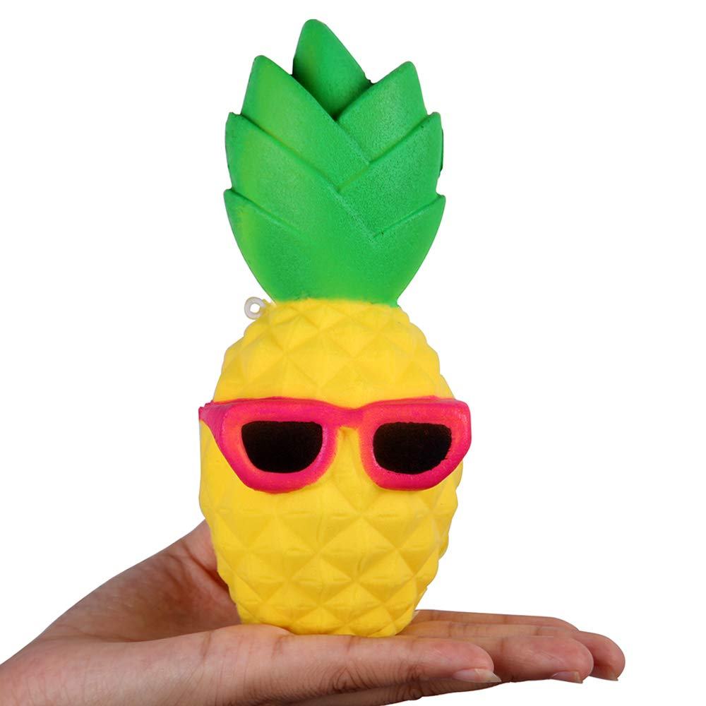 Anboor 6.3 Squishies Ananas Lent Rising Kawaii Doux Parfum/¨/¦ Squishies Jouet pour Enfants ou Soulagement du Stress Cool Lunettes De Soleil