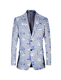 diecaprle Suit Jackets Ugly Christmas Blazer Print Suits Loose Christmas Costumes|Make Life Worth Watching