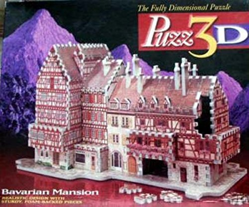 Bavarian Mansion, 418 Piece 3D Jigsaw Puzzle Made by Wrebbit Puzz-3D