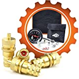 4x4 truck tires - Grit Performance Automatic Tire Deflators with 80 PSI Tire Pressure Gauge + Valve Repair Kit & Custom Foam Case | Air Down Tire Deflator Tool Kit for Off Road Tires, Jeep, Truck, ATV, 4x4 Sand & Rock