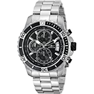 Men's 'Pro Diver' Quartz Stainless Steel Casual Watch, Color:Silver-Toned (Model: 22412)
