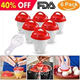 YTH Egg Cooker-Silicone Egg Poachers for hard boiled eggs,Egg Cups AS SEEN ON TV,Hard&Soft Maker,Boil Eggs Without the Egg Shell (Pack of 6) (Silicone Egg)