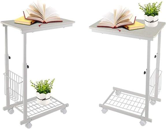 Nero 40 EBTOOLS Tavolino Porta PC,Scrivania per Laptop,Laptop Table Tavolino,Piattaforma Divano Tavolo con Rotelle Altezza Regolabile,60 43-63cm