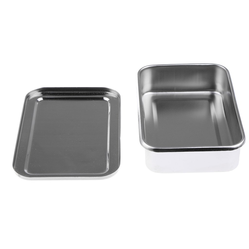 Baosity Stainless Steel - Surgery Instruments Tray Box - Iatrical Needle Box - 6 Inch